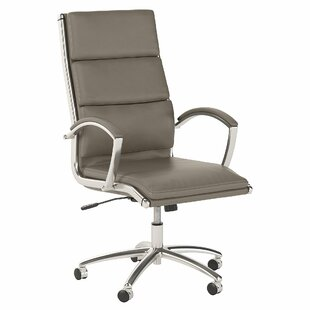 Office by kathy ireland® Echo High Back Leather Executive Chair in White