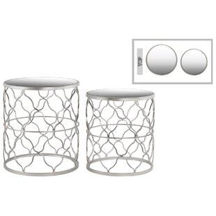 Urban Trends Metal Round 2 Piece Nesting Tables