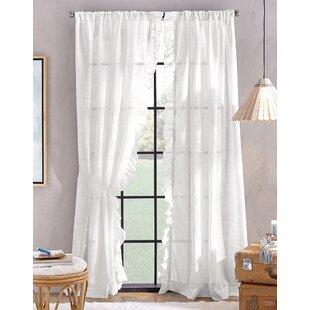 Arbyrd Solid Semi-Sheer Rod Pocket Single Curtain Panel by Ophelia & Co.