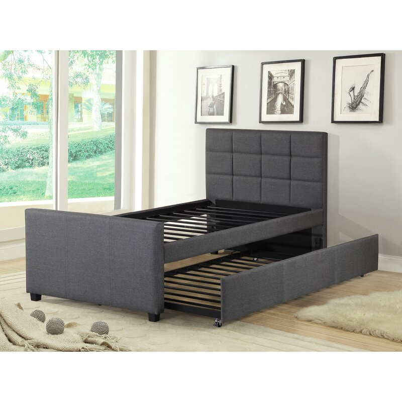 Trundle Bed.Algrenon Twin Platform Bed With Trundle