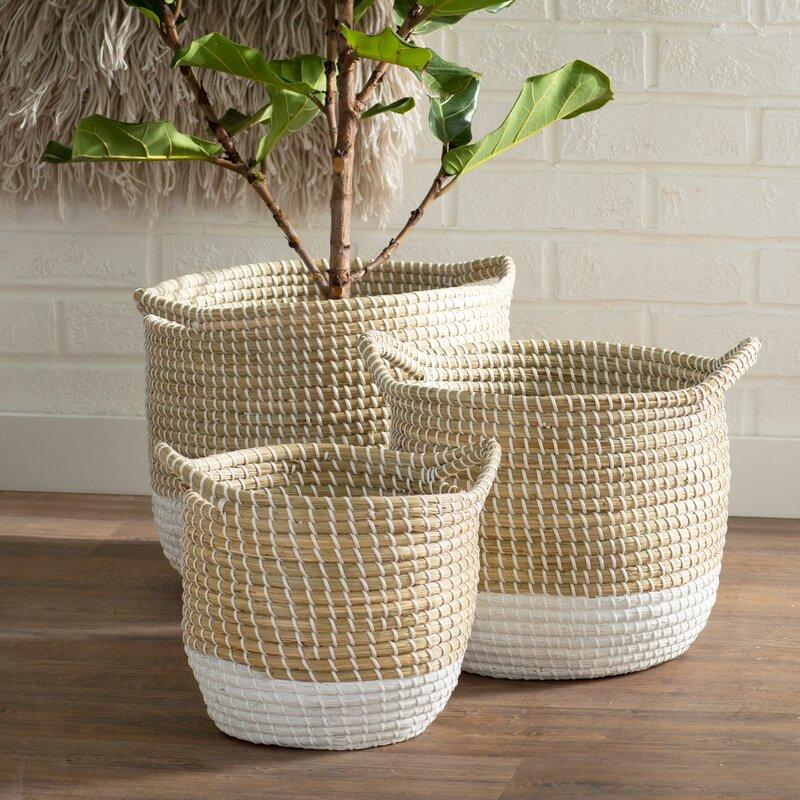 Seagrass 3-Piece Basket Set