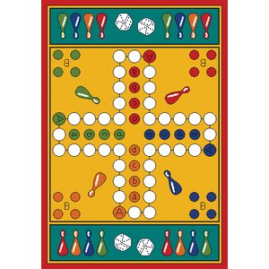 Play Carpet Parcheesi Kids Indoor/Outdoor Area Rug