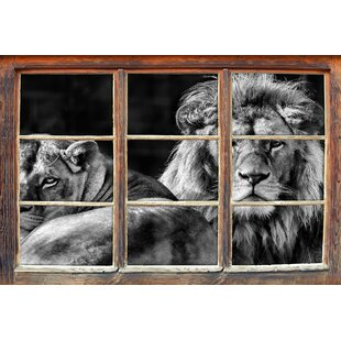 Beautiful Lion Couple Wall Sticker By East Urban Home