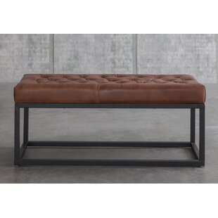 Amazing Adelinda Metal And Leather Bench Lamtechconsult Wood Chair Design Ideas Lamtechconsultcom