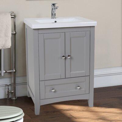 """Vanity Bathroom Images andover mills reynal 24"""" single bathroom vanity set & reviews"""