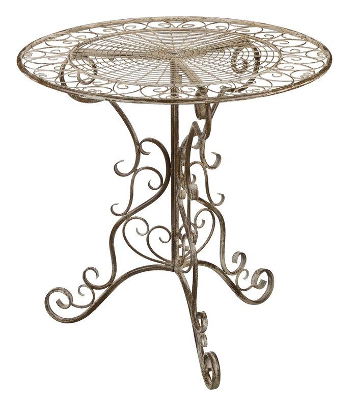 Antique Ivory Bistro Table