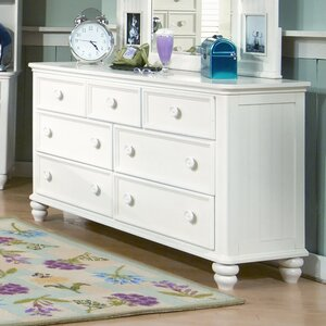 Turhan Maya 7 Drawer Double Dresser with Mirror