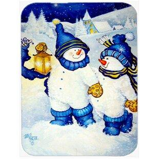Follow Me Snowman Glass Cutting Board