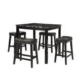 Millgrove 5 Piece Counter Height Solid Wood Dining Set by Winston Porter
