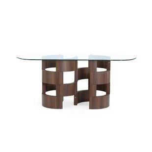 Find the perfect Kimbell Chambered Pedestal Base Dining Table By Brayden Studio