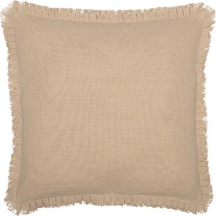 Parks Farmhouse Fringed Ruffle Solid Euro Sham
