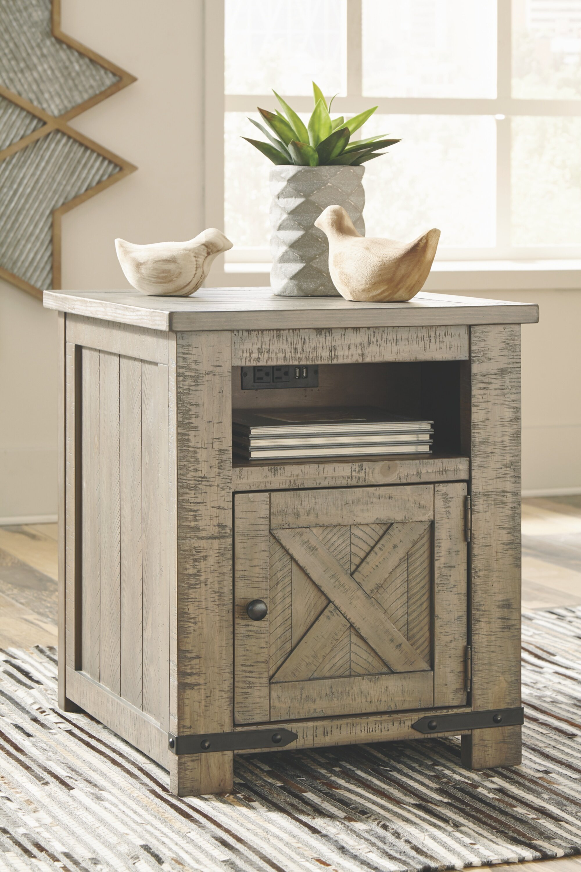 Signature Design By Ashley Aldwin End Table With Storage Reviews Wayfair