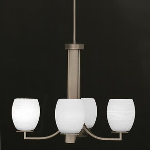 Winston Porter Weatherly 4-Light CShaded Chandelier
