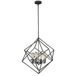 Rad 4-Light Geometric Chandelier by Vaxcel