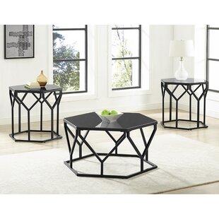 Ivy Bronx Lon 3 Piece Coffee Table Set