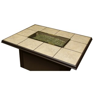 The Outdoor GreatRoom Company Metal Gas Fire Pit Table
