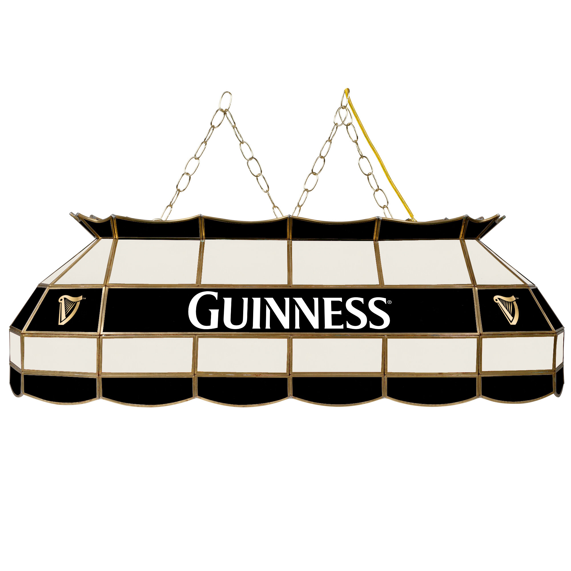 Trademark Global Guinness Stained Glass 3 Light Pool Table Light