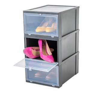 1 Pair Stackable Shoe Storage Cabinet (Set Of 3) By IRIS