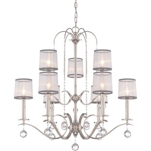 House of Hampton Bellecourt 9-Light Shaded Chandelier