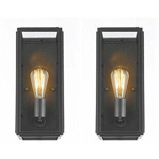 Best Price Mcnally Filament Outdoor Flush Mount (Set of 2) By Williston Forge