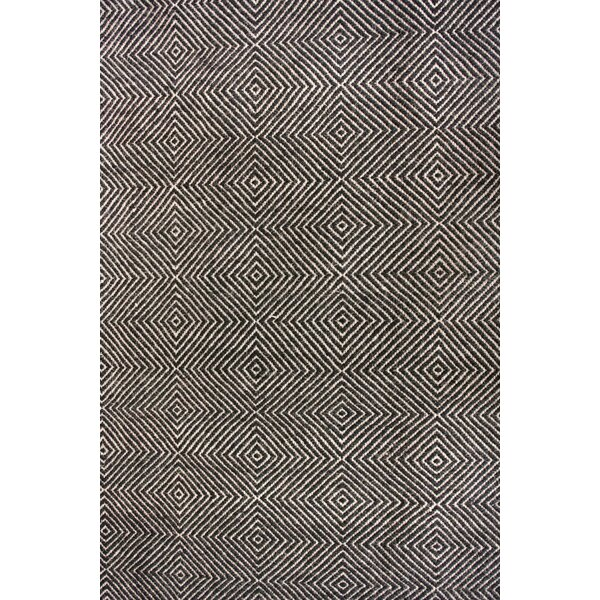 Black Area Rugs mercury row marcelo hand-tufted black area rug & reviews | wayfair