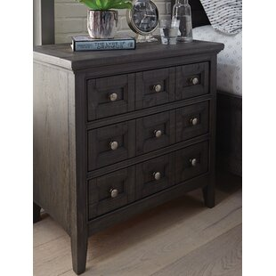 Reviews Ringgold 3 Drawer Nightstand by Three Posts