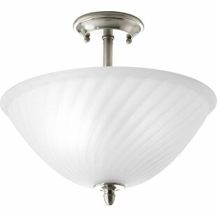 Terrie 2-Light Semi-Flush Mount by Fleur De Lis Living