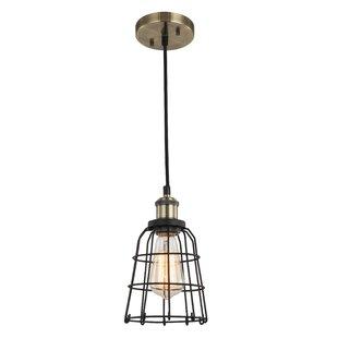 Breakwater Bay Glaze 1-Light Bell Pendant