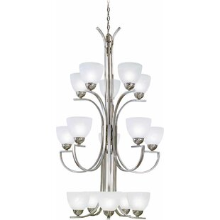 Chicago 15-Light Shaded Chandelier By Volume Lighting
