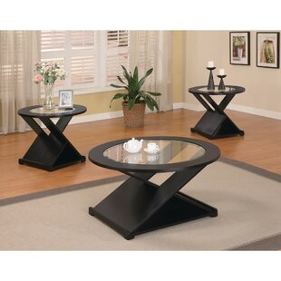 Latitude Run Bind Elegant Rich 3 Piece Coffee Table Set