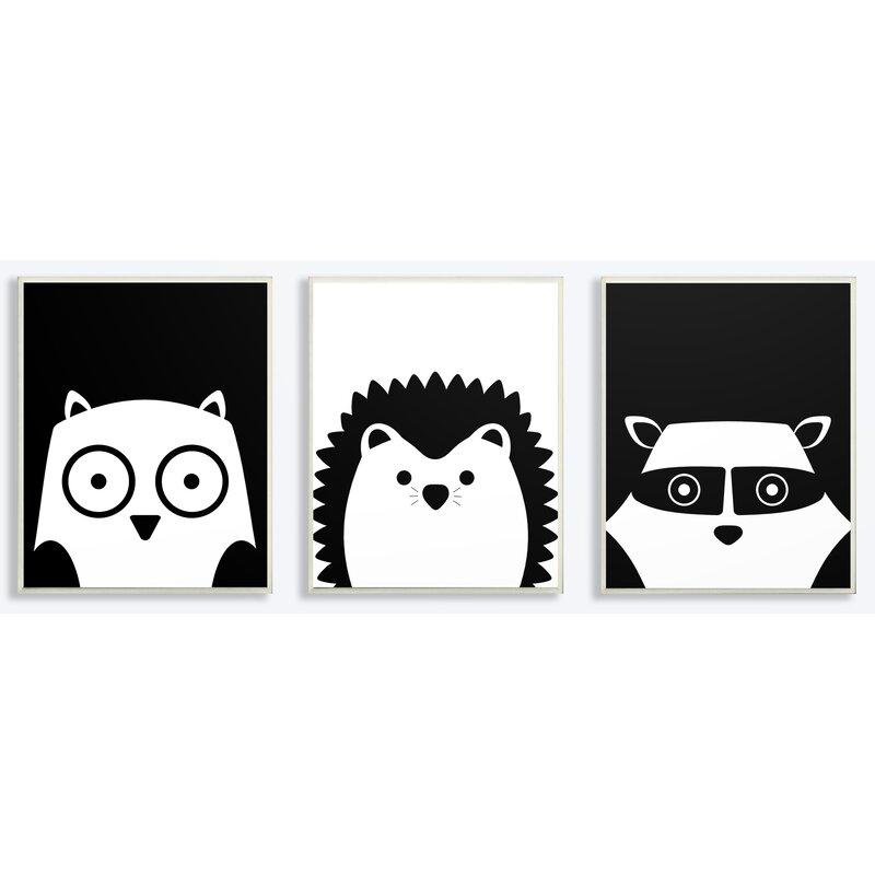 5238df015d4a0 Harriet Bee  Be Wild Critters  3 Piece Graphic Art Print Set