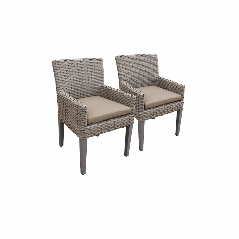 Sol 72 Outdoor  Rockport Patio Dining Chair with Cushion Cushion Color: Beige