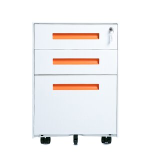 Monroy 3-Drawer Mobile Vertical Filing Cabinet