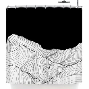 East Urban Home Viviana Gonzalez Lines In The Mountains Shower Curtain