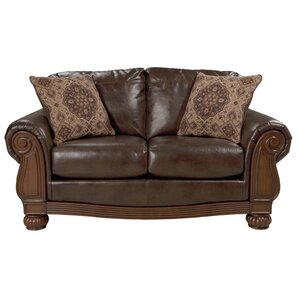 Akershus Leather Loveseat by Astoria Grand