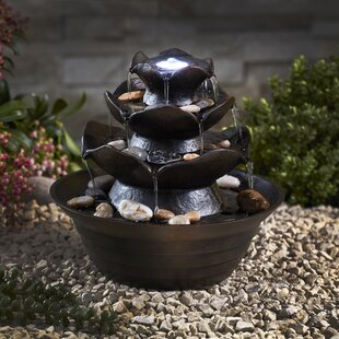 Tolentino Polystone Fountain With LED Light By Sol 72 Outdoor