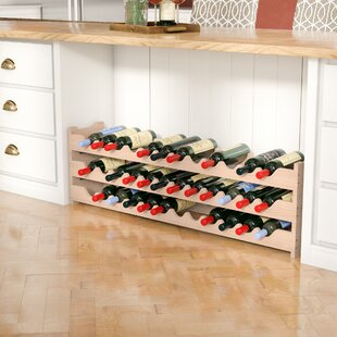 Karnes Pine Scalloped 36 Bottle Tabletop ..