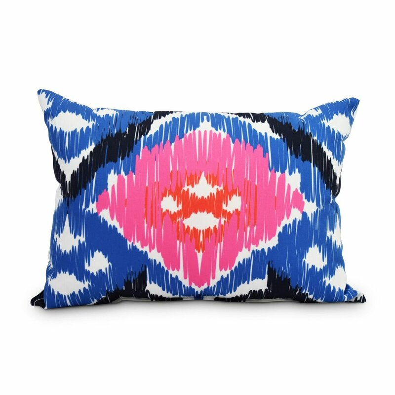 Bungalow Rose Queens Boulevard Decorative Abstract IndoorOutdoor Beauteous Decorative Outdoor Lumbar Pillows