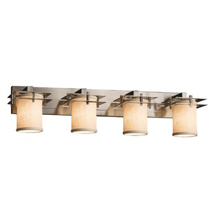 Latitude Run Red Hook Modern 4 Light Square w/ Flat Rim Vanity Light
