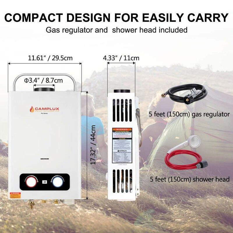 Camplux Pro 1 58 Gallon Liquid Propane Tankless Water Heater Wayfair