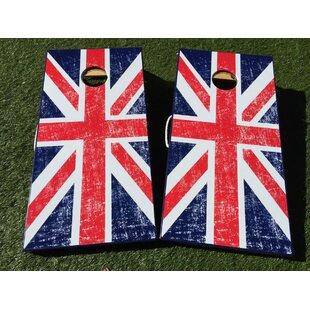 West Georgia Cornhole UK British Flag 10 Piece Cornhole Set