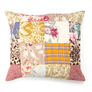 Lulu Patchwork 100% Cotton Throw Pillow