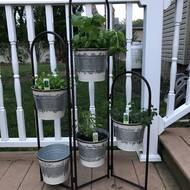 Gracie Oaks Felten Metal Vertical Garden Wayfair