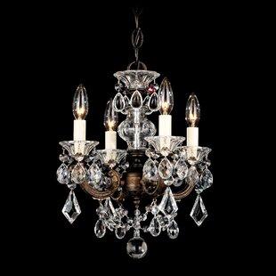 Schonbek mini chandeliers youll love wayfair la scala 4 light mini chandelier by schonbek mozeypictures Choice Image
