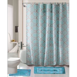 Dylan 15 Piece Shower Curtain Set