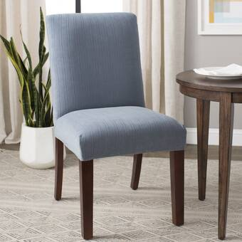 Phenomenal Sure Fit Stretch Pique Box Cushion Dining Chair Slipcover Lamtechconsult Wood Chair Design Ideas Lamtechconsultcom