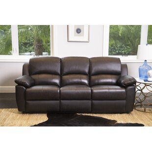 Blackmoor Genuine Leather Reclining Sofa Darby Home Co