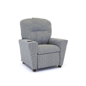 Houndstooth Kids Cotton Recliner with Cup Holder by Kidz World
