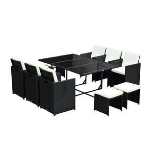 Prudence Outdoor 11 Piece Dining Set with..