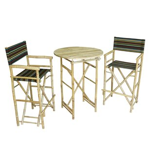 Kherodawala 3 Piece Bar Height Dining Set